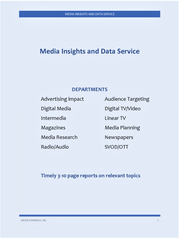 MEDIA INSIGHTS AND DATA SERVICE