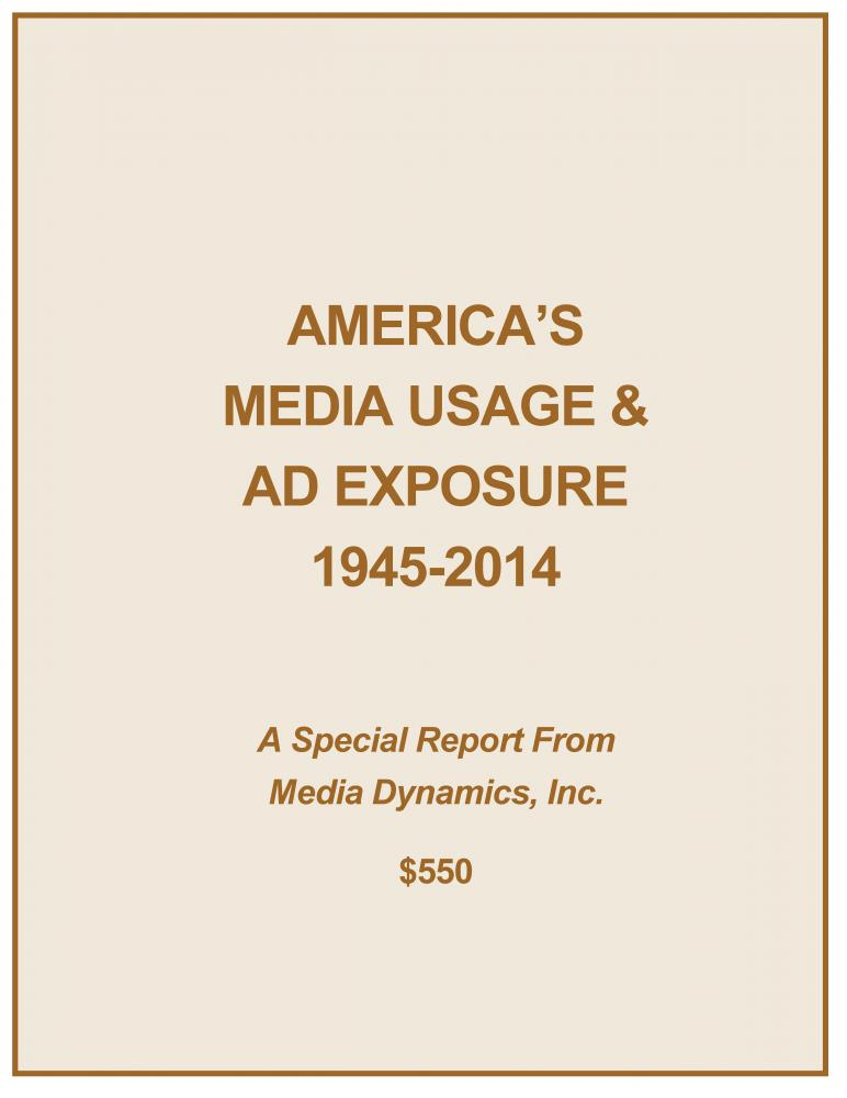 America's Media Usage & Ad Exposure: 1945-2014